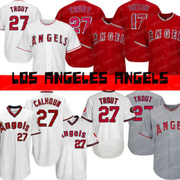 Angels 27 Mike Trout 17 Shohei Ohtani Los Angeles 2019 camiseta de béisbol nueva desde fabricantes