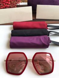 Nouvelle édition limitée de lunettes de soleil pour femmes GG0106S Big-frame Chine-rouge design56-19-140gradient les lunettes de soleil anti-UV400 à débordement complet ? partir de fabricateur