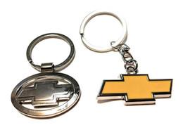 keychain chevrolet Sconti 2 Chevy Keychain in metallo cromato logo (Chrome) e (classico giallo) Chevrolet Motors Super regali