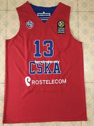 ada9d0960 13 SERGIO RODRIGUEZ CSKA MOSCOW roter Basketball-Jersey Stickerei genäht  Custom beliebig Anzahl und Name Weste Jerseys günstig 4xl basketball jerseys