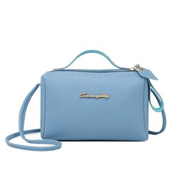Casual Cute Solid Litchi Pattern Leather Bag For Women s Handbag Bucket Bag  Pu Small Phone Purse Messenger Shoulder Bag Fashion litchi bag on sale 84fb78611c78f