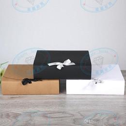 31 * 25.5 * 8 cm Grande Branco Kraft Caixa de Presente de Papel Grande Tamanho Para T-shirt Cachecol Para Favor Do Casamento Do Aniversário Por Atacado de Fornecedores de grandes caixas favor favor
