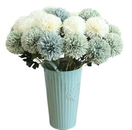 bouquet vase Coupons - fake flowers vase flowers arrangement Dandelion flower ball simulation flower home decoration wedding bouquet artificial flower