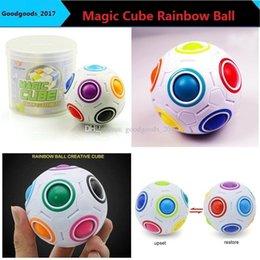HT creativa Calcio arcobaleno sfera Magic Cube Speed Fun sfera Puzzle educativi dei capretti che impara i giocattoli per i figli maggiorenni M0775 da buon giocattoli economici fornitori