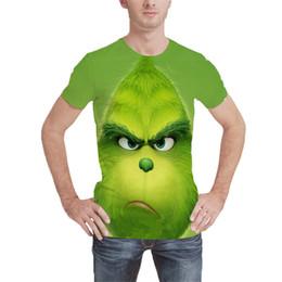 desenhos animados do gorila Desconto Gorila dos desenhos animados Camisetas Novidade Moda Galáxia Tees Lobo Branco Encabeça Tripulação Pescoço Homens St Patrick Leprechaun Camisa Verão Animal Streetwear