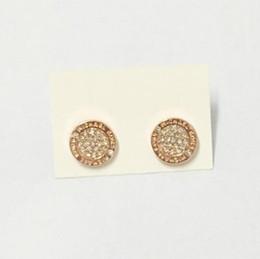 Moda Donna Vogue Classic Lettera orecchino con strass Oro, argento, oro rosa Colore tondo Ear Stud gioielli regalo cheap vogue gifts da regali di moda fornitori