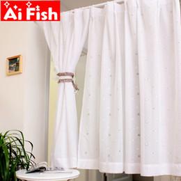 estores estilo casa Desconto Estilo japonês simples estrelas modernas dos desenhos animados cortinas brancas puras tela semi-sombra cego porta de malha de malha de tule para cozinha A56-40