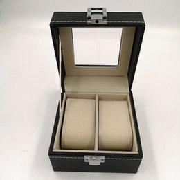 Coffret de montre en cuir 2 étuis de rangement en cuir PU pour couple de montres, collection de présentoirs 2 hommes et femmes ? partir de fabricateur