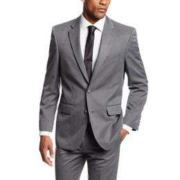 Costumes simples sur mesure pour hommes Costumes de mariage gris Tuxedos Grooms Costumes pour hommes Costumes Slim Fit garçons d'honneur de plage (veste + pantalon) ? partir de fabricateur