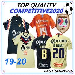 a34130d76 19 20 best Quality LIGA MX Club America soccer Jerseys home yellow away  Third Green 2018 2019 2020 Camisetas O.Peralta football shirts discount  best club ...