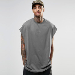 camisetas sem mangas para homens Desconto Mens Designer Sleeveless Tshirts Casual Bat Sleeve Summer Tops Hiphop Mens High Street Loose T shirts