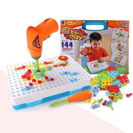 Bambini Educational Toy trapano vite Puzzle costruzione Insights assemblato di progettazione puzzls Boy Girl Jigsaw Migliora colore Y200111 consapevolezza da cosmetici naturali fornitori