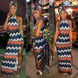 2075d9bd0797 New Casual maxi dresses Sexy irregular Split long skirt dress sleeveless  Bandage Bodycon Party Dress women clothes with headscarf 811