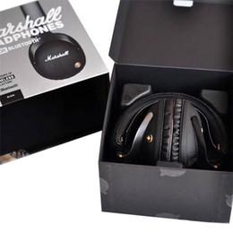 2019 бить bluetooth Marshall Monitor Bluetooth складные наушники с микрофоном Кожа с шумоподавлением Deep Bass Стерео наушники Монитор DJ Hi-Fi Наушники