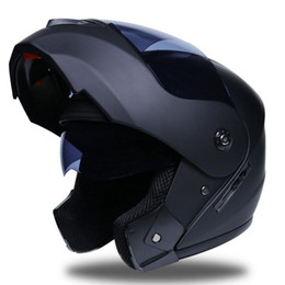 double flip motorcycle helmet Coupons - DSstyles Outdoor Cycling equipment Unisex Double lens riding helmet Flip Up Racing Helmet Modular Dual Lens Motorcycle