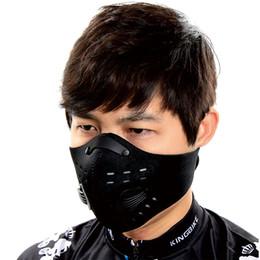 Máscara de ciclismo de la ciudad online-PCycling anticontaminación Ciudad Ciclismo mascarilla de Boca-mufla máscara de polvo de bicicletas Deportes Proteja ciclismo de carretera cubierta protectora