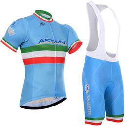 Ciclismo astana online-Crossrider 2019 Team Astana Cycling Jersey Bike manga corta conjunto Mtb Ropa Ciclismo Pro ciclismo ropa para hombre bicicleta Maillot Culotte
