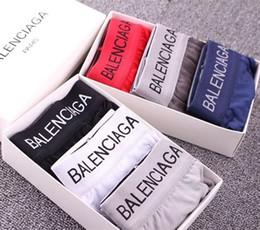 Sous-vêtements pour pas cher en Ligne-Pas cher en gros de haute qualité 6 couleurs sexy coton hommes boxeurs respirant mens sous-vêtements de marque boxers logo sous-vêtements hommes boxeur Taille M-2XL