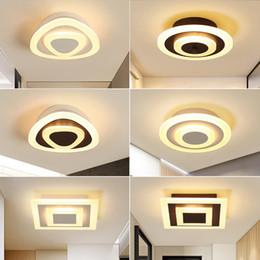 Deckenleuchte Moderne Led Korridor Lampe Für Badezimmer Wohnzimmer Rund Quadratisch Beleuchtung Startseite Dekorative Leuchten