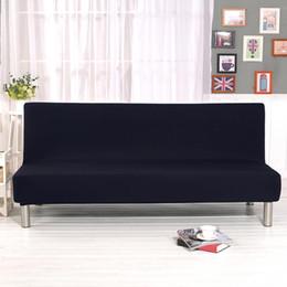 outdoor furniture sofa sets Desconto Capas de sofá para sala de estar Cor Sólida Tudo Incluído Trecho Dobrável Sofá Cama Capa Protector Slipcover sem Braços