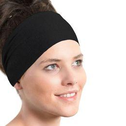 cintas para el pelo de deporte para las mujeres sólidas cinta absorbente diadema diadema entrenamiento señoras Deportes Yoga Banda de sudor gimnasia estiramiento banda para el cabello desde fabricantes
