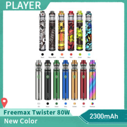 x3 battery Promo Codes - Authentic Freemax Twister 80W Starter Kit Built-in 2300mAh VW Battery 5ml Fireluke 2 Tank X2 X3 Mesh Coil Vape Pen Kit Genuine