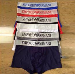 19FW marca hombres ropa interior boyshort letras sexy suave ropa interior de algodón ropa deportiva casual hombres 6 color 4 yardas envío gratis desde fabricantes