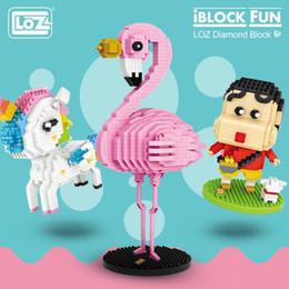 micro bloques de construcción Rebajas Loz Diamond Blocks Asamblea Anime Figura de Acción Kawaii Mini Micro Building Blocks Ladrillos Diy Juguetes Educativos Para Niños Regalo Y190606