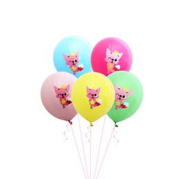 Ins bambini Baby Shark palloncini in lattice bambini festa di compleanno palloncino Carnevale Cartoon stampa palloncini casa decorazioni di nozze 12 pollici A52008 da
