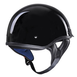 women motorcycle half helmet Promo Codes - Motorcycle Helmet For Man And Woman S M L XL Retro And Vintage Half Open Face DOT Approved