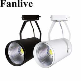Fanlive 20 pcs 15 w 20 w 30 W COB Trilho Holofotes Leds Lâmpada de Rastreamento Luminária Spot Lâmpada Para Loja Loja de Loja de Exposição de