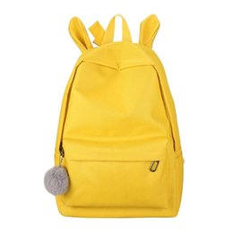 yellow rabbit ears Promo Codes - 2019 Fashion Backpack Rabbit Ears Women Casual Travel School Backpack Schoolbag for Girls sac a dos femme bagpack mochilas mujer