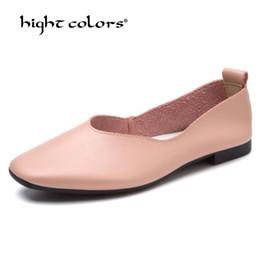 Mulheres grávidas couro on-line-Mulher Sapatos Baixos Mocassins Mulheres Genuíno Couro De Vaca Senhoras Casuais Projeto Da Marca de Alta Qualidade Mompregnant Womennursedrive Sapatos