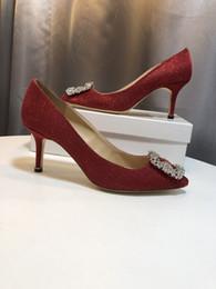 2019 женские насосы Бесплатная доставка мода повседневная дизайнер Черный Кристалл Леди точка toe туфли на высоких каблуках насосы сапоги из натуральной кожи свадебные туфли yc19031217 дешево женские насосы