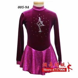 robes de patinage artistique Promotion Figure Robe de patinage sur glace / Costume Twirling / Dance / Tape Justro Made to Fit