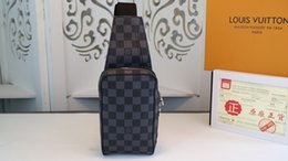Cuoio classico nero argento catena d'argento vendita calda 2019 nuove donne borse borse tracolle tote bags messenger dimensioni: 20 * 12 * 6 cm N51994 da