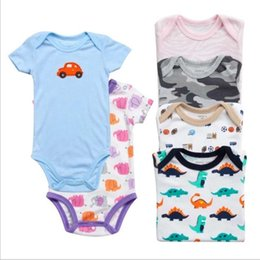 b6801d16aef 3-24M Baby Rompers Short Sleeve overalls new born baby boy clothes infant  baby girls outfit jumpsuit Roupas de bebe clothing