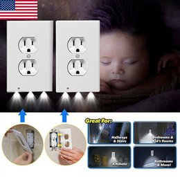 Pequeño interruptor online-Product Night Angel Small Night Lamp Wall Seat Cover Switch Set of Square Safe Wall Switch Lamp
