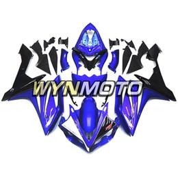 Kit de carenagem yamaha r1 azul on-line-Embalagem Inferior Inoxidável Branca e Preta Azul Prata Para Yamaha YZF1000 R1 Ano 2007 2008 Kit Completa De Carenagem R1 07 08 Body Kit Melhor Cowling