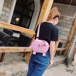 padrão do saco do mensageiro da lona Desconto Teste padrão bonito do porco bolsas sacos Mulher 2019 do estudante fêmea Slung Versátil lona Peito Messenger Bag Bolsa de Ombro bolsas Feminina