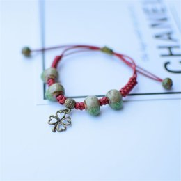 Céramique coréenne en Ligne-Bracelet tortue Designer Bracelet en céramique Bracelet Korean Style de travail manuel créatif Couple Bracelet Ornement Bijoux Charm 12