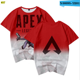 Camisetas de videojuegos online-Apex Legends Men T-shirt Camisetas de verano Juegos de video con impresión en 3D Camisetas de manga corta Gimnasio Tops 37colors MMA1535