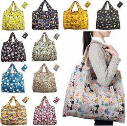 tampa de poeira ps4 Desconto Sacos de compras reutilizáveis impermeável sacos de compras dobráveis de nylon Sacos de compras reutilizáveis Eco sacos de compras amigáveis sacola