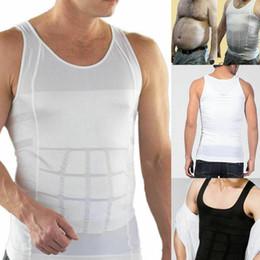 Sculpter des sous-vêtements en Ligne-Slim hommes humidité moins le ventre de bière formant des sous-vêtements abdominaux Body Sculpting gilet Shapers Body Sculpting T-shirt Body Shaper