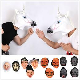 Маска для волков онлайн-Хэллоуин маска вечеринка страшная маска призрак клоун ведьма лошадь волк горилла маска маски для лица крик маски костюм маски
