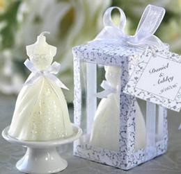 hochzeitsgeschenke andenken kerze Rabatt 200pcs Hochzeitskleid Kerze Bevorzugungsgeschenke Parteibevorzugungs Hochzeitsgeschenke für die Gäste Souvenirs Geburtstag SN1683