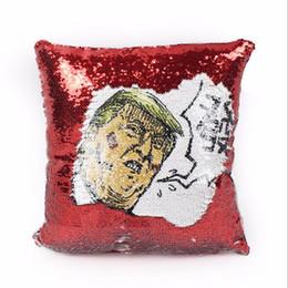 Cobrir engraçado do coxim on-line-40x40 cm Trump fronha Sereia Lantejoula Fronha Reversível Trump Capa de Almofada engraçado expressão fronha qualidade superior