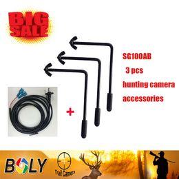 câmera de segurança escondida Desconto Acessórios de caça Bolyguard consertar a árvore 3 pcs L parafuso de caça caça câmera selvagem Aço construção de câmeras de segurança escondida