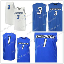 2020 abbigliamento universitario 3 Doug McDermott Creighton Bluejays Uomini College Basketball Jersey Ricamo Athletic Outdoor Apparel Mens Maglie Sport formato S-3XL abbigliamento universitario economici