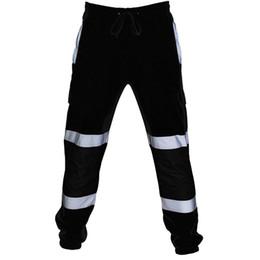 Lavoro su strada online-2019 Nuova moda calda Casual Pocket Work Casual pantaloni larghi pantaloni sportivi MenMen Road Work alta visibilità tute